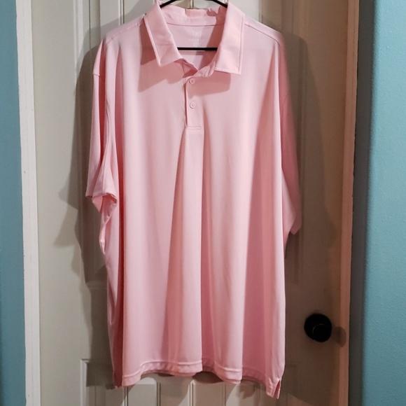 Big /& Tall GEORGE men Polo Shirt PINK XL 2XL 3XL Polyester NWT FREE